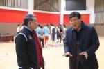 省体育局巡视员、省篮协主席陈海军调研文一男篮 - 省体育局