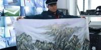 蚌埠一名小学保安国画惊艳众人 深藏不露的高手 - 安徽网络电视台